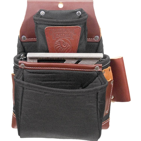 Occidental Leather B8060 Black OxyLights 3 Pouch Fastener Bag