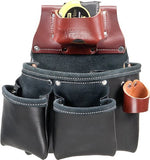 3 Pouch Pro Leather Tool Bag with Tape Measure Pouch 5018DB
