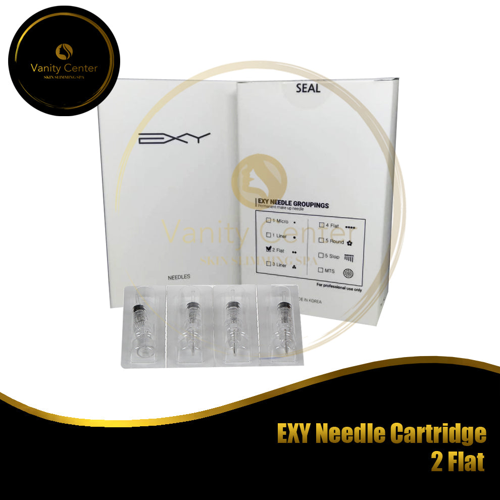 EXY Needle Cartridge 2 Flat 15pcs/box