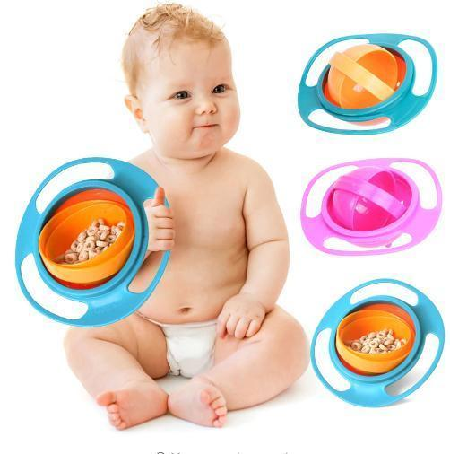 360 Rotate Spill-Proof Gyro Bowl Dishes - Blissful Baby Co