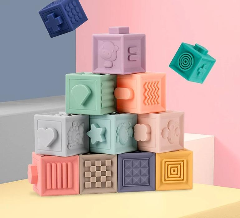 Shop 3D Building Blocks Squeeze Toy - Blissful Baby Co