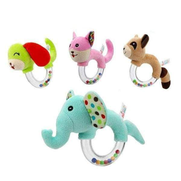 Animal Hand Bells Baby Rattle Plush Toys - Blissful Baby Co