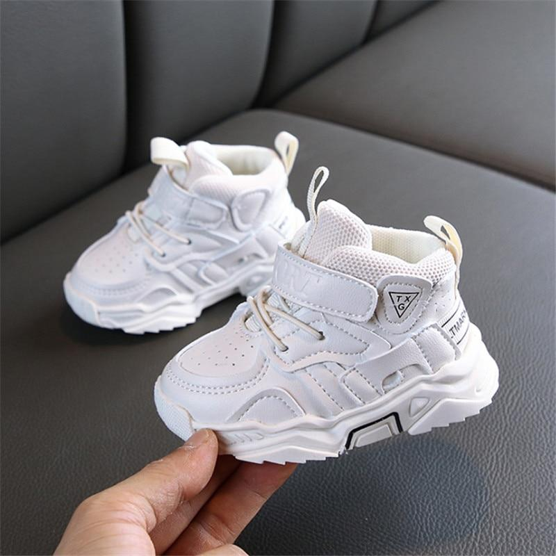 AOGT 2021 Autumn Baby Girl Boy Toddler Shoes Infant Casual Walkers Shoes Soft Bottom Comfortable Kid Sneakers Black White Blissful Baby Co 200000942