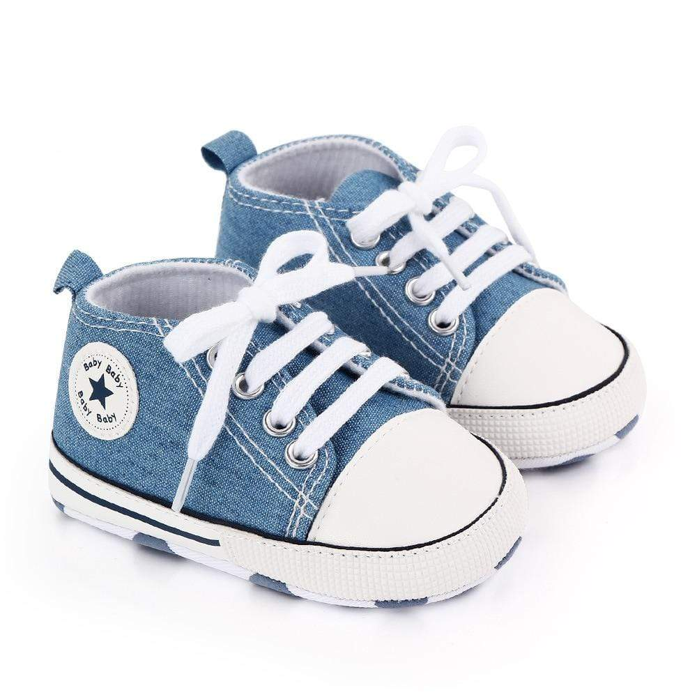 Baby Canvas Classic Sneakers Newborn Print Star Sports Baby Boys Girls First Walkers Shoes Infant Toddler Anti-slip Baby Shoes Blissful Baby Co 200000942