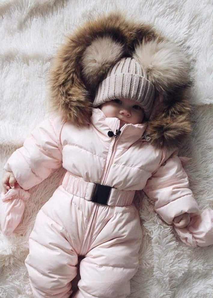 Shop Fur Hooded Baby Snowsuit - Blissful Baby Co