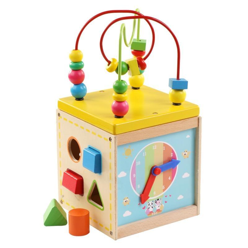 Shop Baby Educational Wooden Activity Cube - Blissful Baby Co
