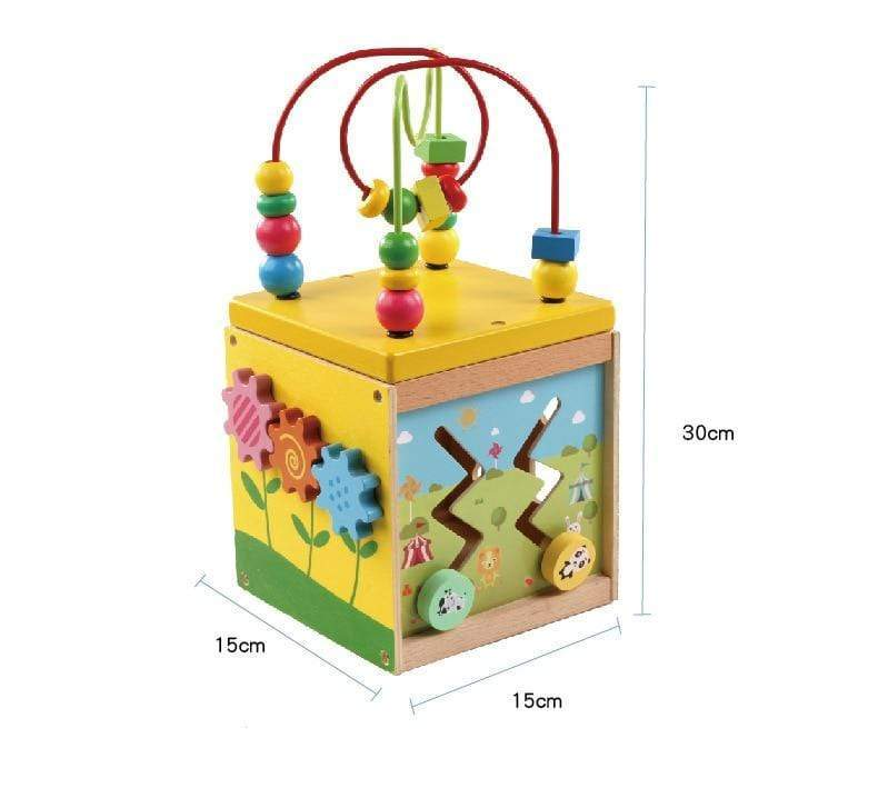 Baby Educational Wooden Activity Cube - Blissful Baby Co