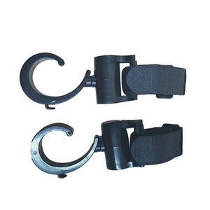 Shop Baby Stroller Pram Hooks - 360 Degree Rotatable, 20KG Strength, 2 pieces - Blissful Baby Co