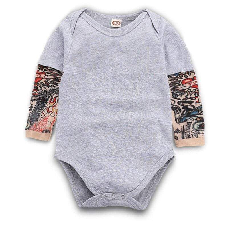 Shop Baby Tattooed Sleeves Onesie - Blissful Baby Co