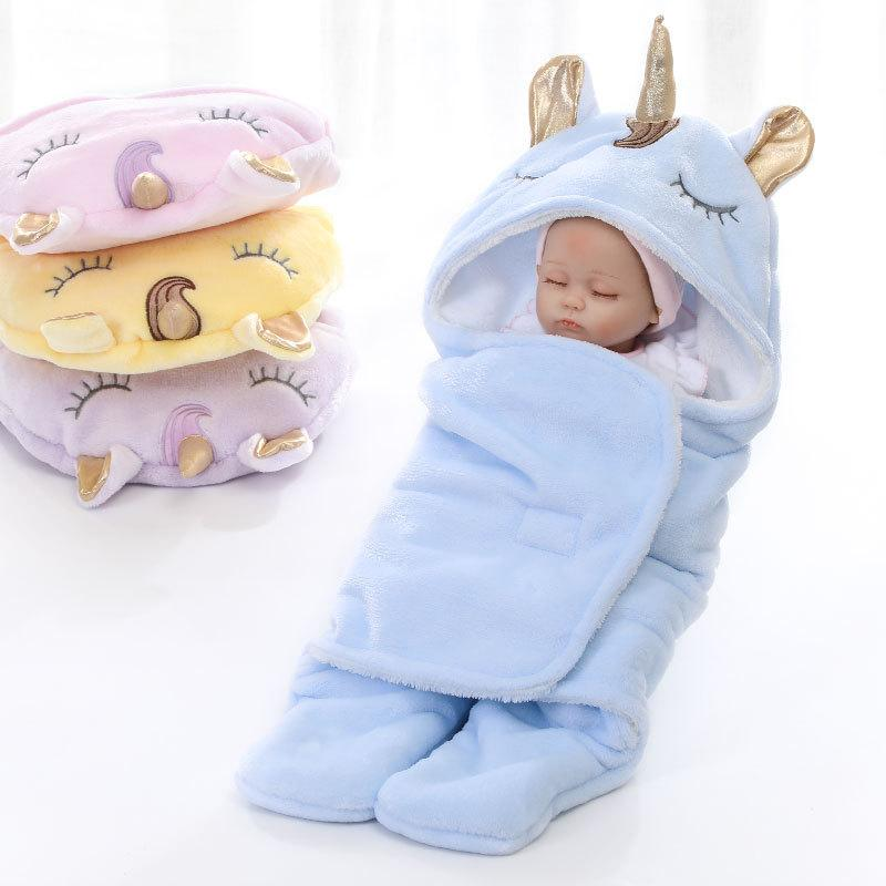 Baby Unicorn Swaddle Blanket - Double Layer - Blissful Baby Co