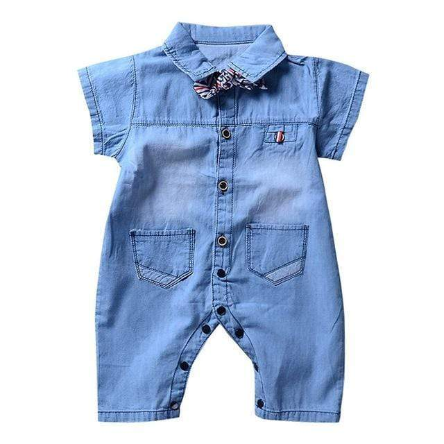 Blue Summer Dream One Piece Romper for Baby Boy & Baby Girl - Blissful Baby Co