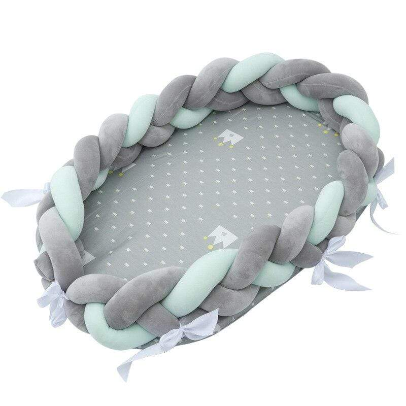 Braided Bumper Baby Nest - Blissful Baby Co
