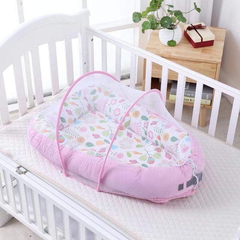 Shop Cotton Baby Nest Bed With Mosquito Net - Blissful Baby Co