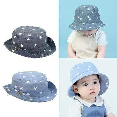 Cotton Toddler Denim Tractor Hat - Blissful Baby Co