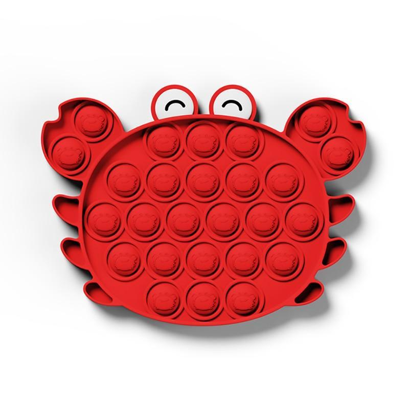 Crab - Pop It Fidget Toy Red Toshi Stationery 200388157