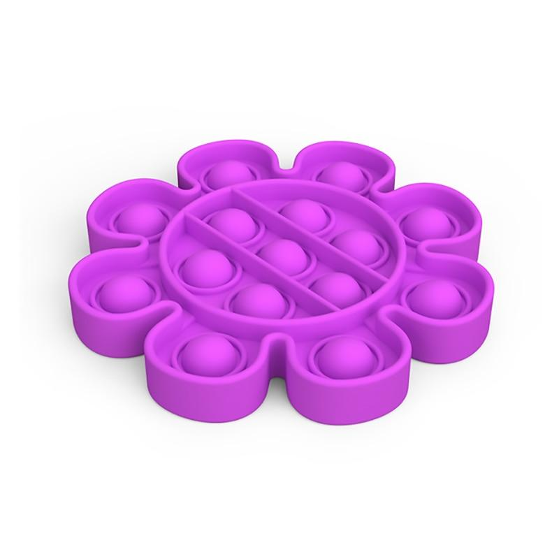 Flower - Pop It Fidget Toy Purple Toshi Stationery 200388157