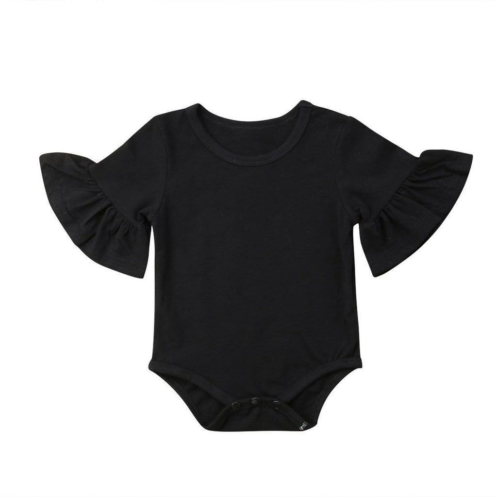 Shop Frilly Sleeved Baby Girl Bodysuit - Blissful Baby Co