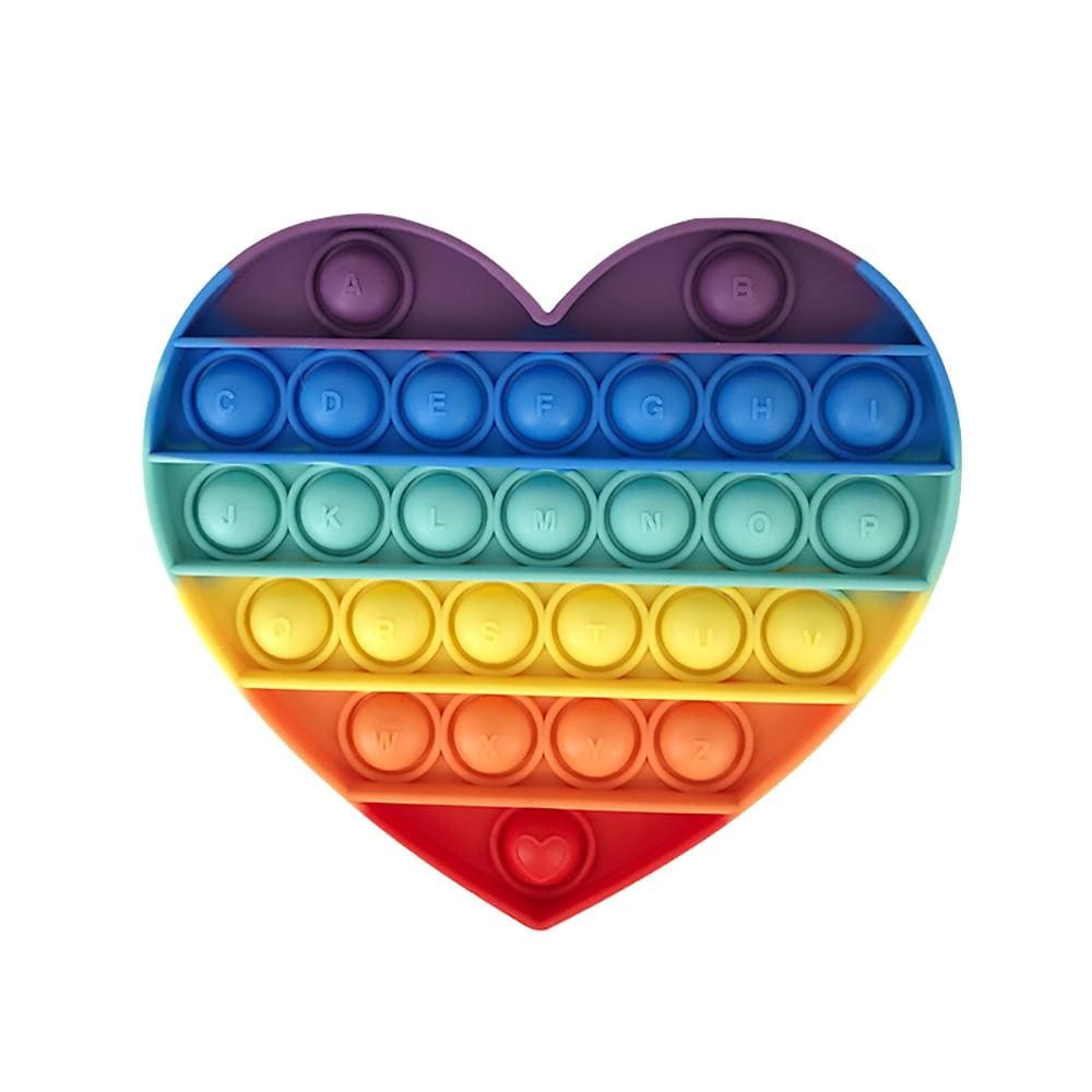 Heart - Pop It Fidget Toys Rainbow Toshi Stationery 200388157