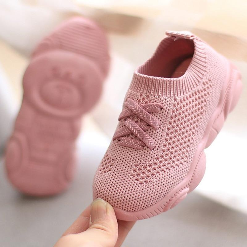 Lace-Up Mesh-Knit Baby Shoes - Blissful Baby Co