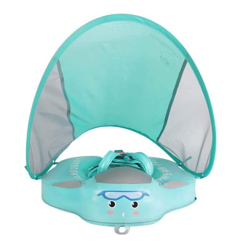 Shop Mambo™ Baby Airless Float Ring With UPF50+ Canopy (2020 Deluxe Edition Swim-Trainer) - Blissful Baby Co