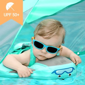 Mambo™ Baby Airless Float Ring With UPF50+ Canopy (2020 Deluxe Edition Swim-Trainer) - Blissful Baby Co