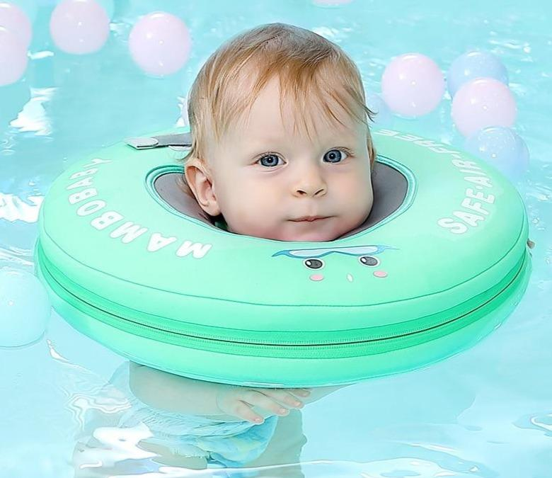 Mambo Non-Inflatable Neck Float Ring Swim Trainer - Blissful Baby Co