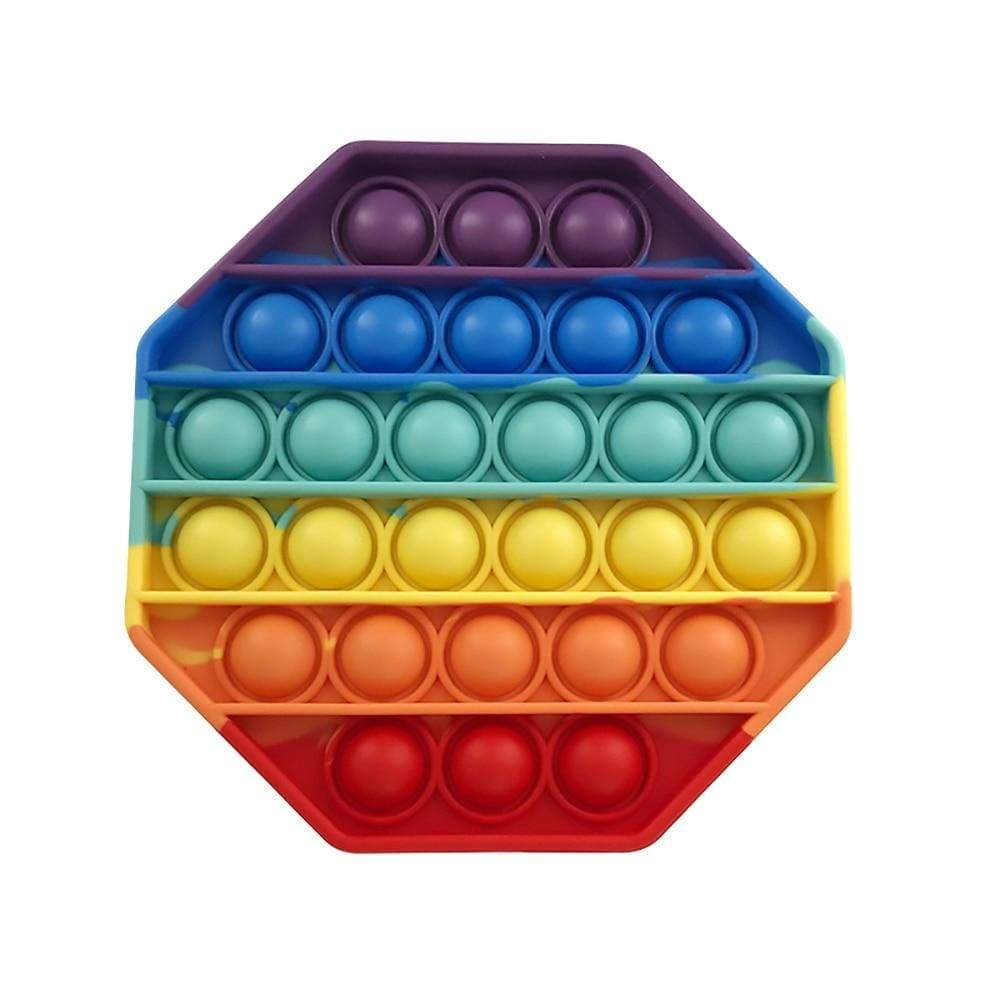 Octagon - Pop It Fidget Toy Rainbow Toshi Stationery 200388157
