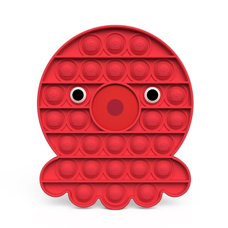 Octopus - Pop It Fidget Toy Red Toshi Stationery 200388157