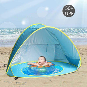 Shop Portable Baby Beach Tent with Pool - Blissful Baby Co