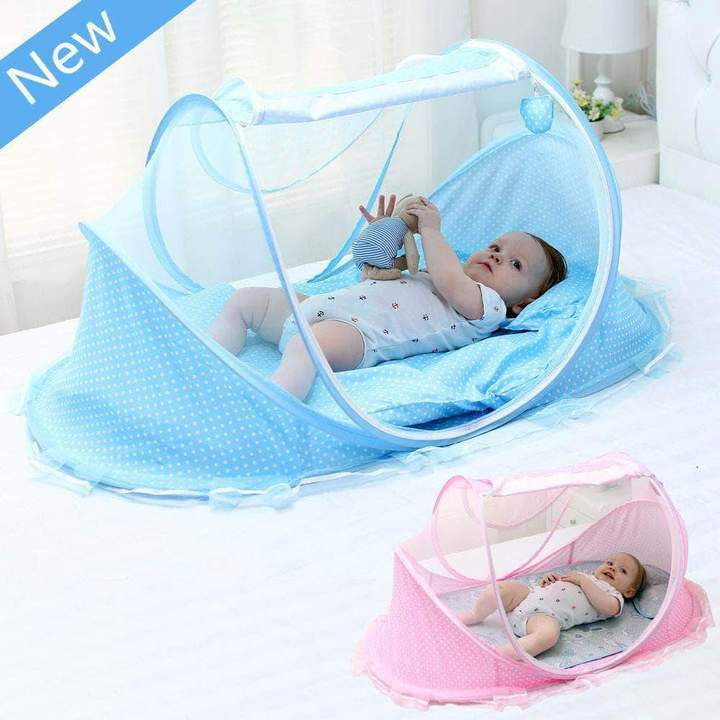 Portable Baby Bed With Mosquito Net - Blissful Baby Co