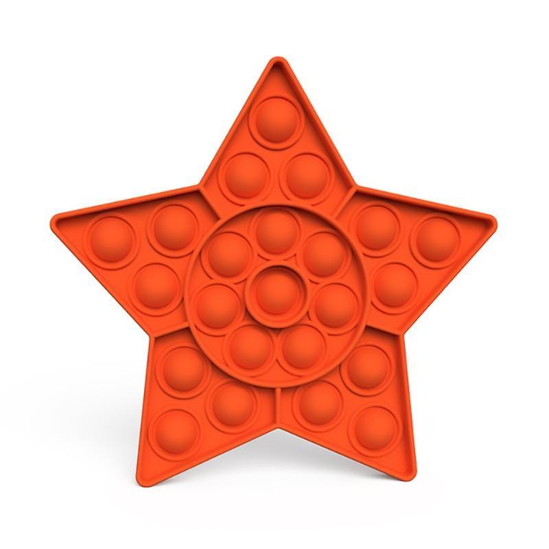Star - Pop It Fidget Toy Orange Toshi Stationery 200388157