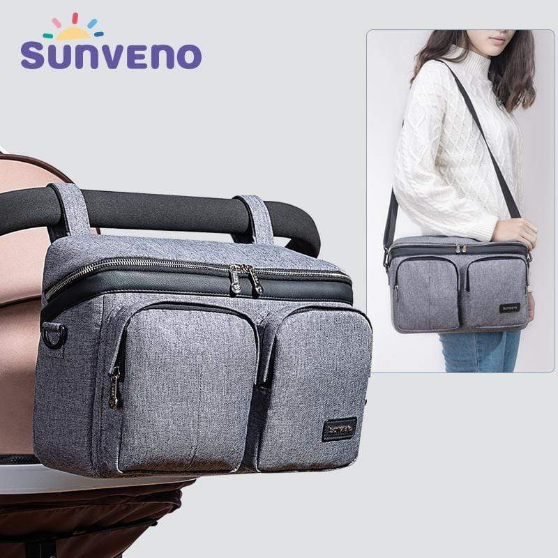 Sunveno Hanging Stroller Diaper Bag - Blissful Baby Co