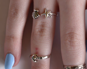 Shell & Starfish Ring