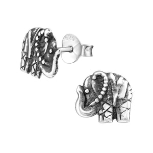 Patterned Elephant Ear Studs