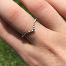 Load image into Gallery viewer, Beaded Wishbone Ring