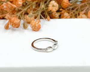Stacking White Opal Ring