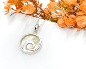 Mother of Pearl Wave Necklace
