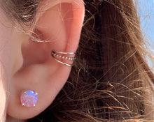 Load image into Gallery viewer, Pink Opal Ear Studs