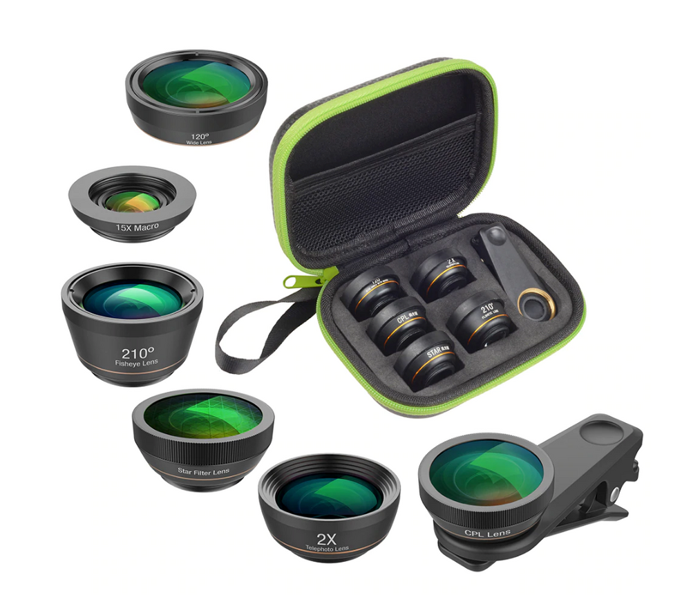 Camera Lens Kit 6 in 1 Fish Eye Lens Smartphone