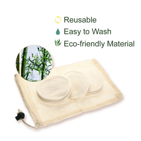 reusable bamboo make-up pads