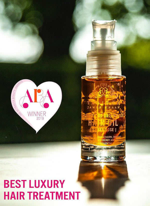 TABITHA JAMES KRAAN SCENTED ORGANIC HAIR OIL AMBER ROSE