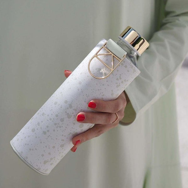 EQUA WATER BOTTLE - MISMATCH FAUX LEATHER ESSENCE