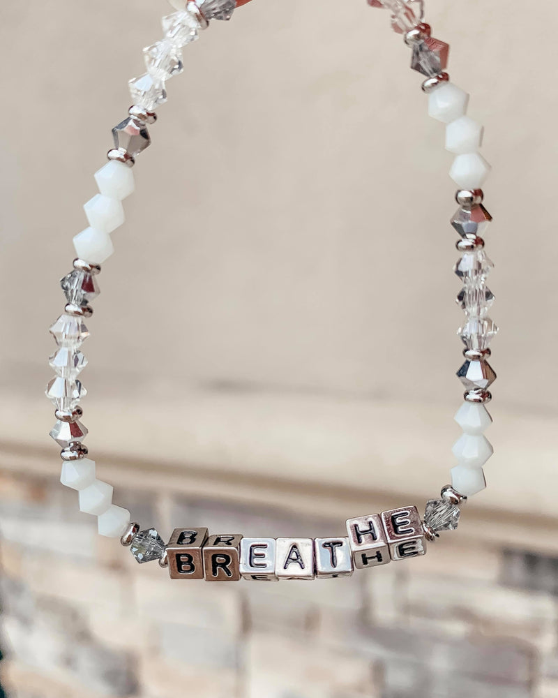 Silver Breathe Beaded Bracelet