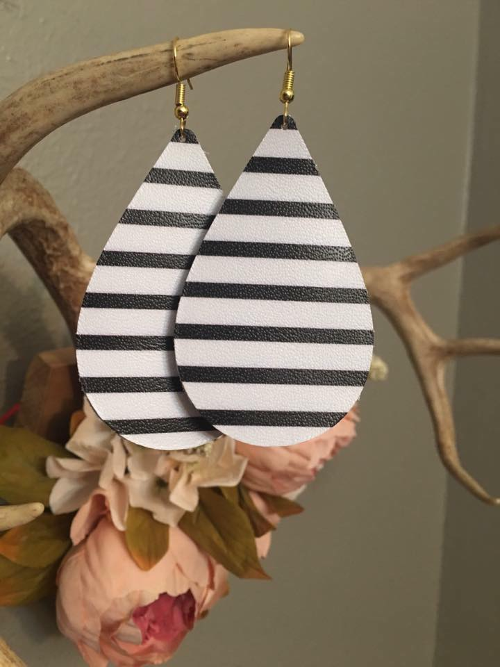 Leather Teardrop Earring
