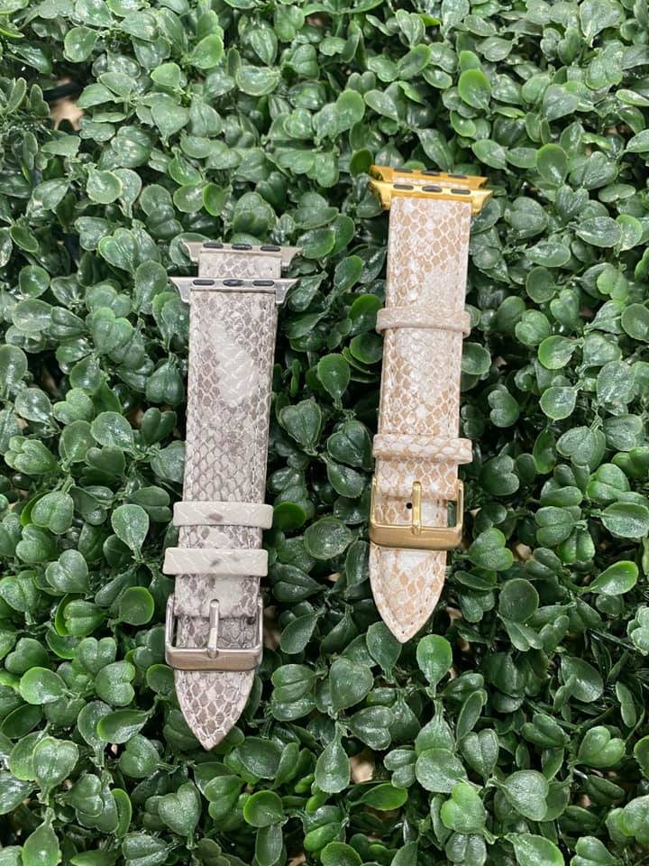 Faux Leather Apple Watchband