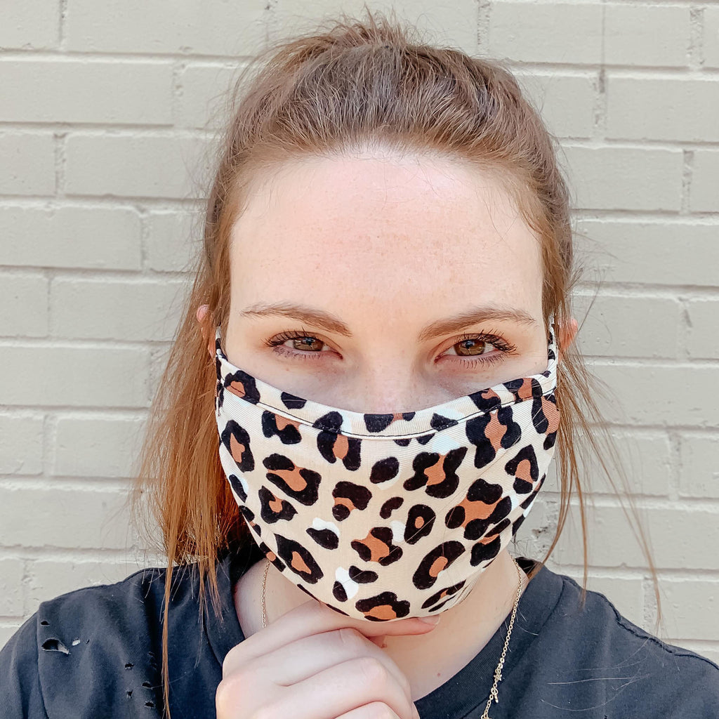 Lovely Leopard Fashion Face Mask