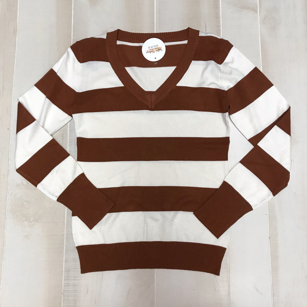 Settled In Stripe Top