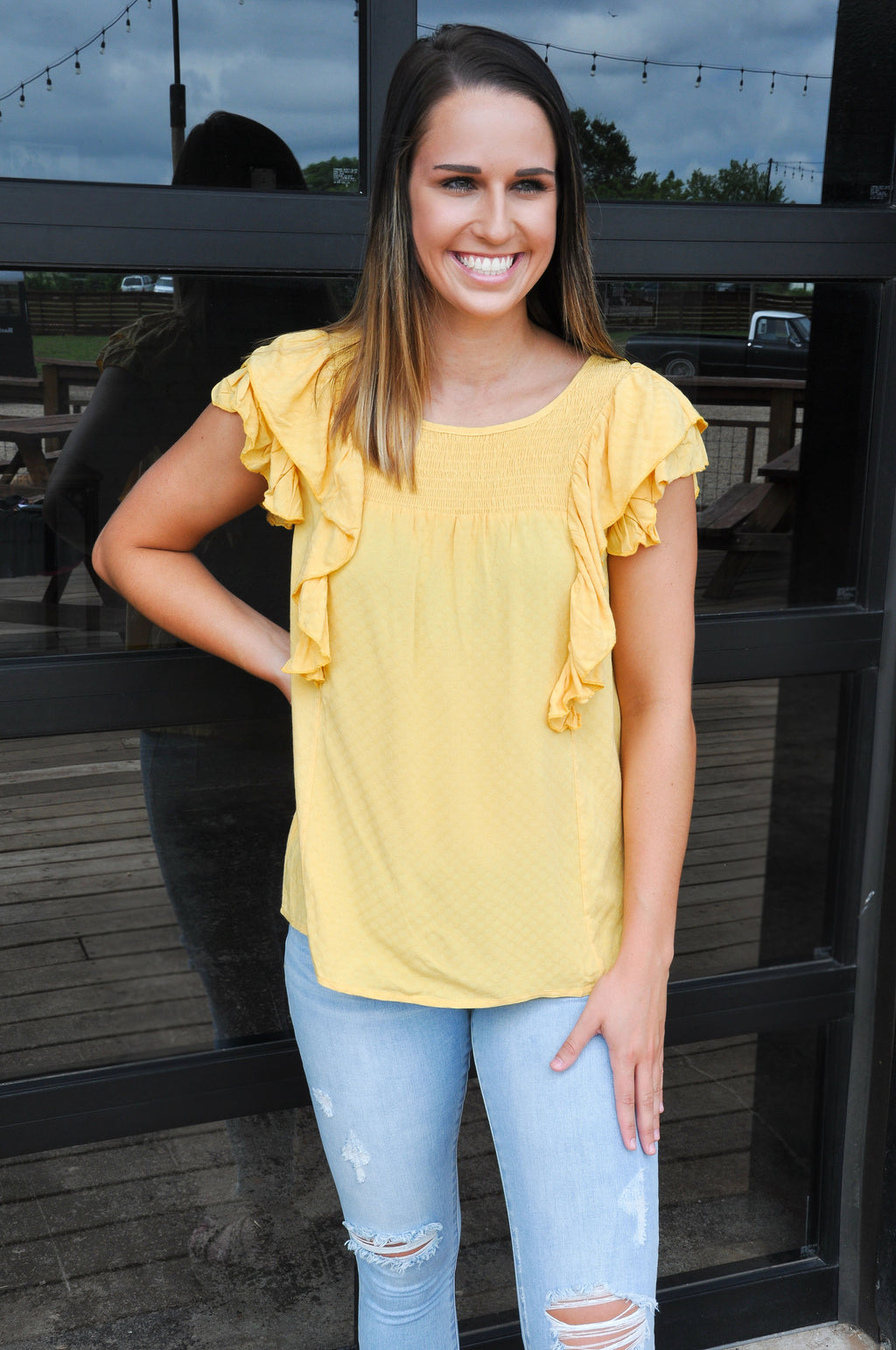 Ruffled Feathers Top