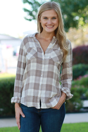 Taupe-ful Beginnings Top