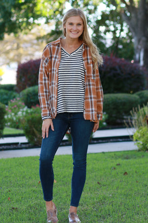 Set Fire Plaid Top